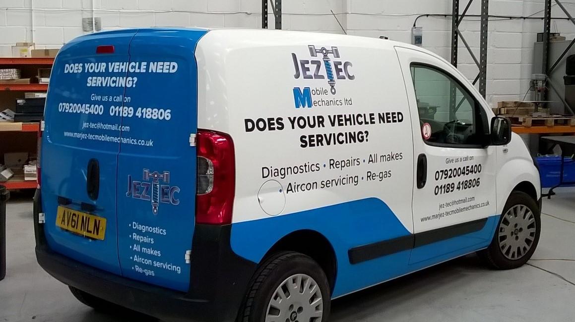 Vehicle Wrapped rear van doors