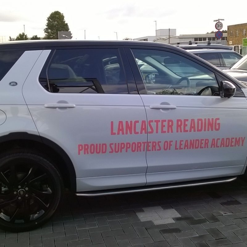 Lancaster Reading – Leander Club decals on JLR Discovery